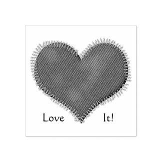 Herz genehmigt gummistempel