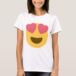 Herz-Gesicht Emoji Spitze T-Shirt