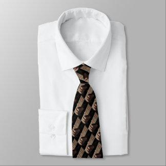 Herz-Gitarren-karierter Entwurf Krawatten