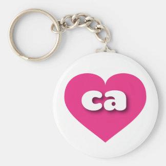 Herz heißen Rosas Kaliforniens - MiniLiebe Schlüsselanhänger