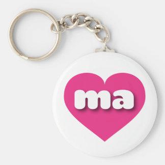 Herz heißen Rosas Massachusetts - MiniLiebe Schlüsselanhänger