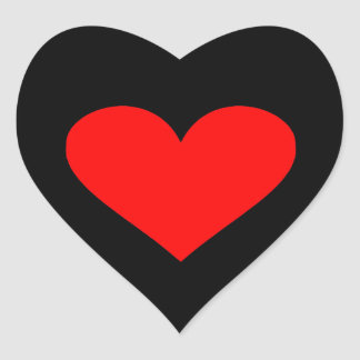 Herz Herz-Aufkleber