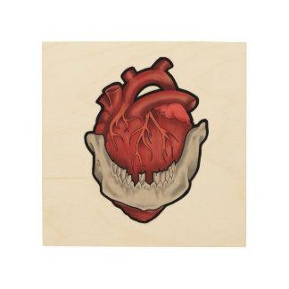 Herz im Mund Holzleinwände