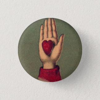 Herz in der Hand 1 Zoll-runder Knopf Runder Button 3,2 Cm