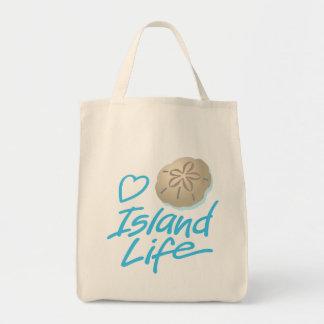 Herz-Insel-Leben-Andenken-Tasche mit Sand-Dollar Tragetasche