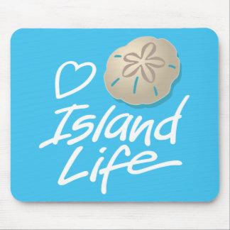 Herz-Insel-LebenMausunterlage mit Sand-Dollar Mauspads