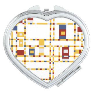 Herz-kompakter Spiegel Schminkspiegel