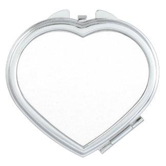 Herz-kompakter Spiegel Taschenspiegel