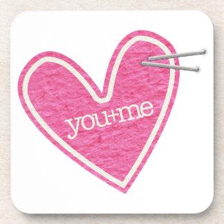 Herz-Korken-Untersetzer des Valentines Tages