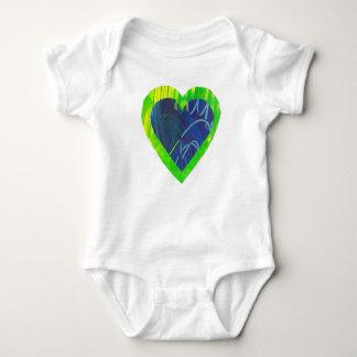 Herz-Liebe-Baby-Bodysuit-Säuglings-Shirt Baby Strampler