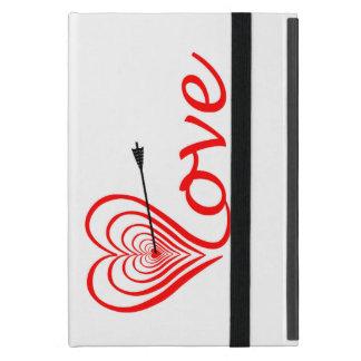 Herz Liebe Dartscheibe mit Pfeil Hülle Fürs iPad Mini