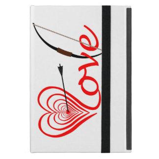 Herz Liebe Dartscheibe mit Pfeil und Bogen Etui Fürs iPad Mini