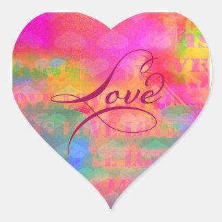 Herz-Liebe des Valentines Tages Herz-Aufkleber