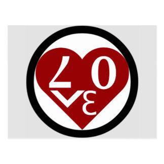Herz-Liebe-Postkarte Postkarte