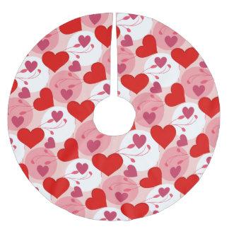 Herz-Liebe-Romance Valentinstag-Rosa weiblich Polyester Weihnachtsbaumdecke