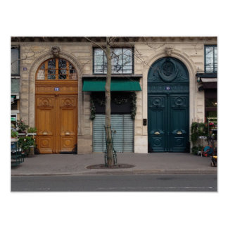 Herz-Liebe-Tür-Plakat Paris zwei Poster