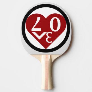 Herz-LiebePing Pong Paddel Tischtennis Schläger