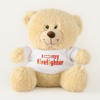 Herz mein Feuerwehrmann Teddybär