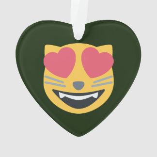 Herz mit Augen Emoji Kitty-Katze Ornament