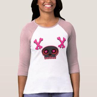Herz-mit Augen niedlicher Schädel-T - Shirt