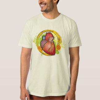 Herz mit Blumen T-Shirt