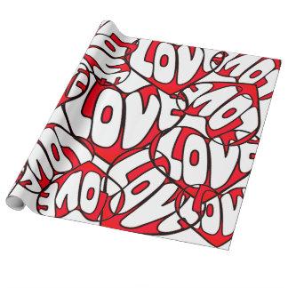 Herz mit dem Tag Liebevalentines Geschenkpapier