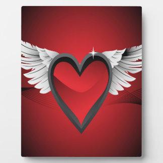 Herz mit Flügeln Fotoplatte