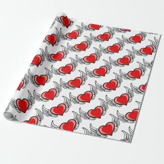 Herz mit Flügeln Geschenkpapier