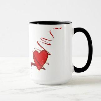 Herz Motiv Kaffeetasse