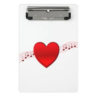 Herz-Musik Mini Klemmbrett