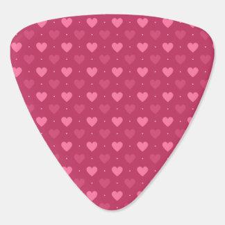 Herz-Muster-Rosa u. Rot (Liebe u. Valentine) Gitarren-Pick