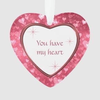 Herz-Muster-Valentinsgruß haben Sie mein Herz Ornament