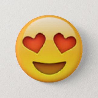 Herz mustert Emoji Knopf Runder Button 5,7 Cm