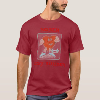 Herz, NÜCHTERN, BODYBUILDER T-Shirt