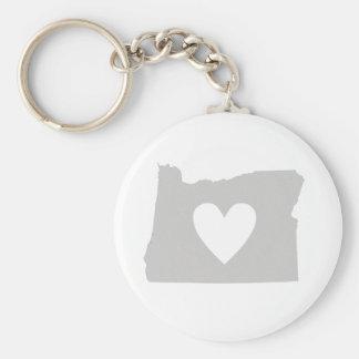Herz-Oregon-Staats-Silhouette Schlüsselanhänger