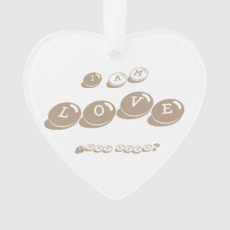 "Herz-Ornament ""I am LOVE"" nature Ornament"