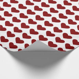 Herz-Packpapier des romantischen Valentinsgrußes Geschenkpapier