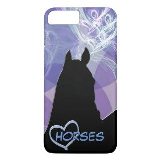 Herz-Pferd I (lila Fractual) iPhone 7 Plus Hülle