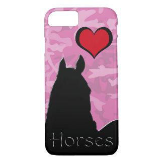 Herz-Pferd I (rosa Camouflage) iPhone 8/7 Hülle