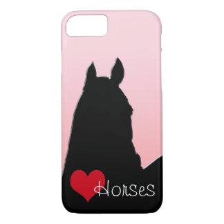 Herz-Pferde I (verblaßtes Rosa) iPhone 8/7 Hülle