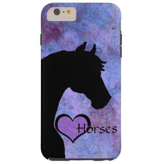 Herz-Pferde II (lila) Tough iPhone 6 Plus Hülle