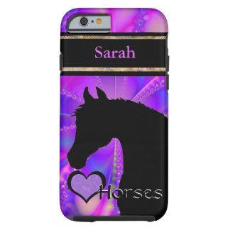 Herz-Pferde III kundengerecht (Fraktal 100) Tough iPhone 6 Hülle