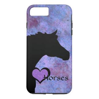Herz-Pferde IV (lila/Blau) iPhone 8 Plus/7 Plus Hülle