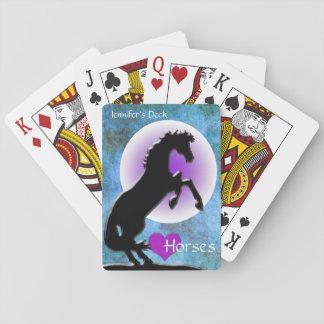 Herz-Pferde V (Blau/Grün) Kartendeck