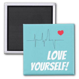 Herz-Pulsschlag-Magnet der Liebe-sich roter Quadratischer Magnet