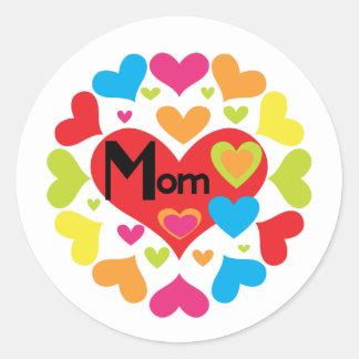 Herz-reichlich Mamma-T - Shirts und Geschenke Runder Aufkleber
