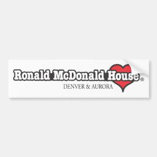 Herz Ronald McDonald Autoaufkleber