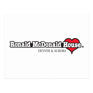 Herz Ronald McDonald Postkarte