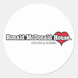 Herz Ronald McDonald Runder Aufkleber