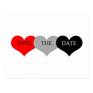 Herz Save the Date Postkarte